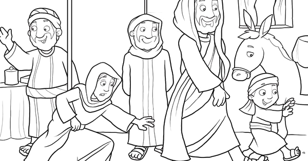 Woman with the issue Of Blood Coloring Page Jesus Heals the Woman with the issue Of Blood