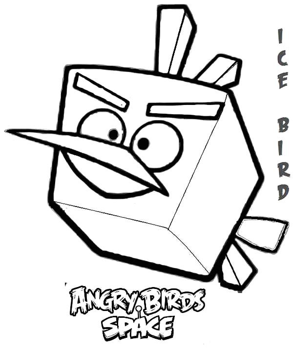 Angry Birds Space Ice Bird Coloring Pages Ice Bird In Angry Bird Space Coloring Page Kids Play Color