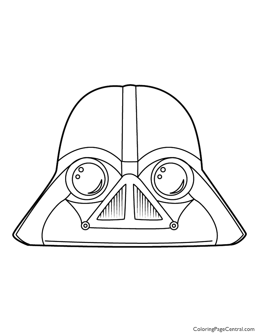 Angry Birds Star Wars Coloring Pages Darth Vader Angry Birds Star Wars Darth Vader 01