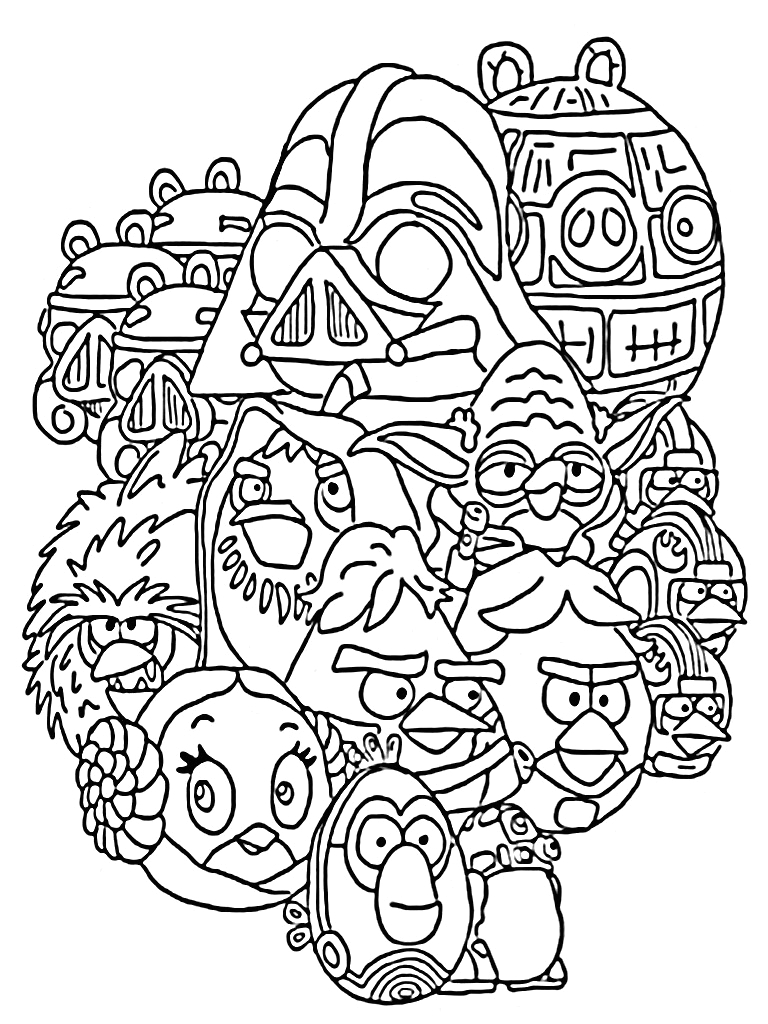 Angry Birds Star Wars Printable Coloring Pages Angry Birds Star Wars Coloring Pages Printable
