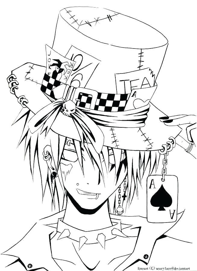Anime Coloring Pages to Print for Teenagers Anime Coloring Pages for Teenagers at Getcolorings