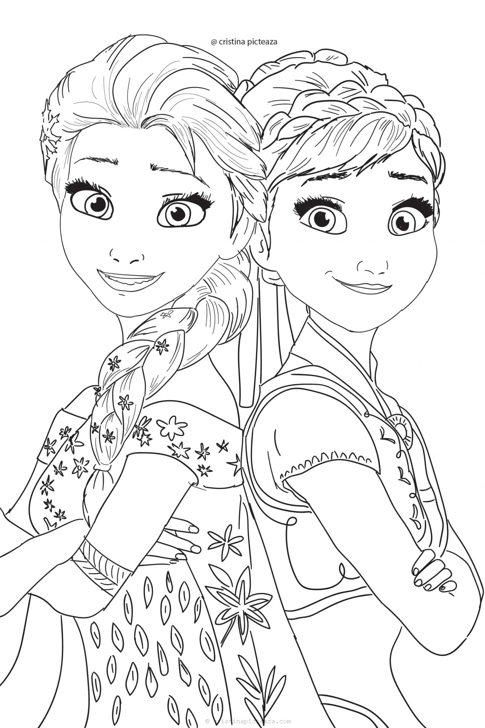Anna and Elsa Frozen 2 Coloring Pages Frozen 2 Coloring Pages – Elsa and Anna Coloring