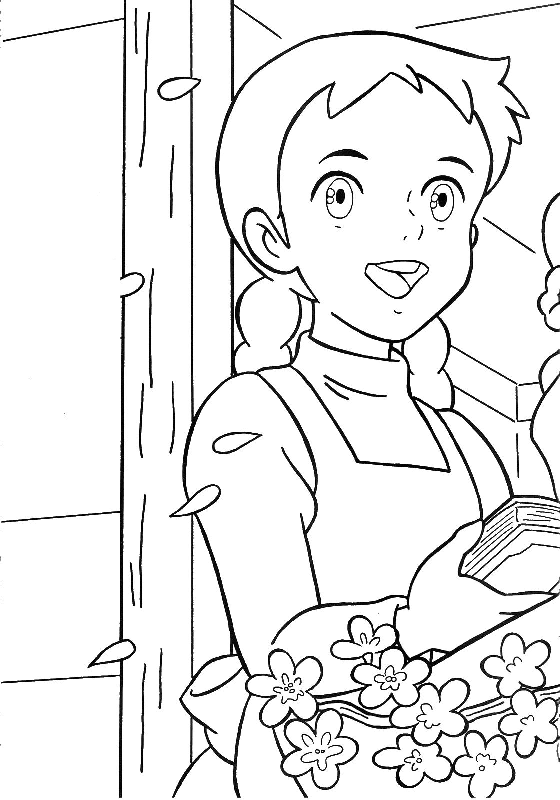 Anne Of Green Gables Coloring Pages Free Ann Of Green Gables Coloring Pages