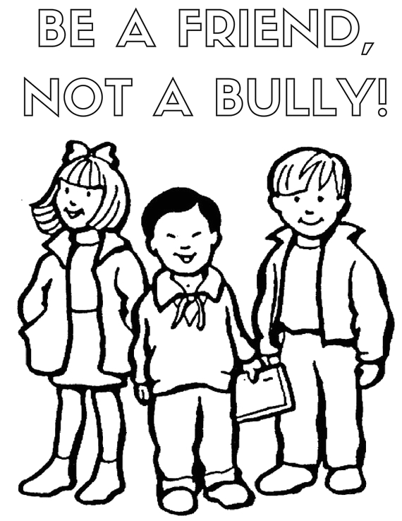 Be A Friend Not A Bully Coloring Page Items Similar to Be A Friend Not A Bully Coloring Page