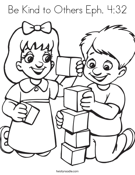 be kind to others eph 432 coloring page