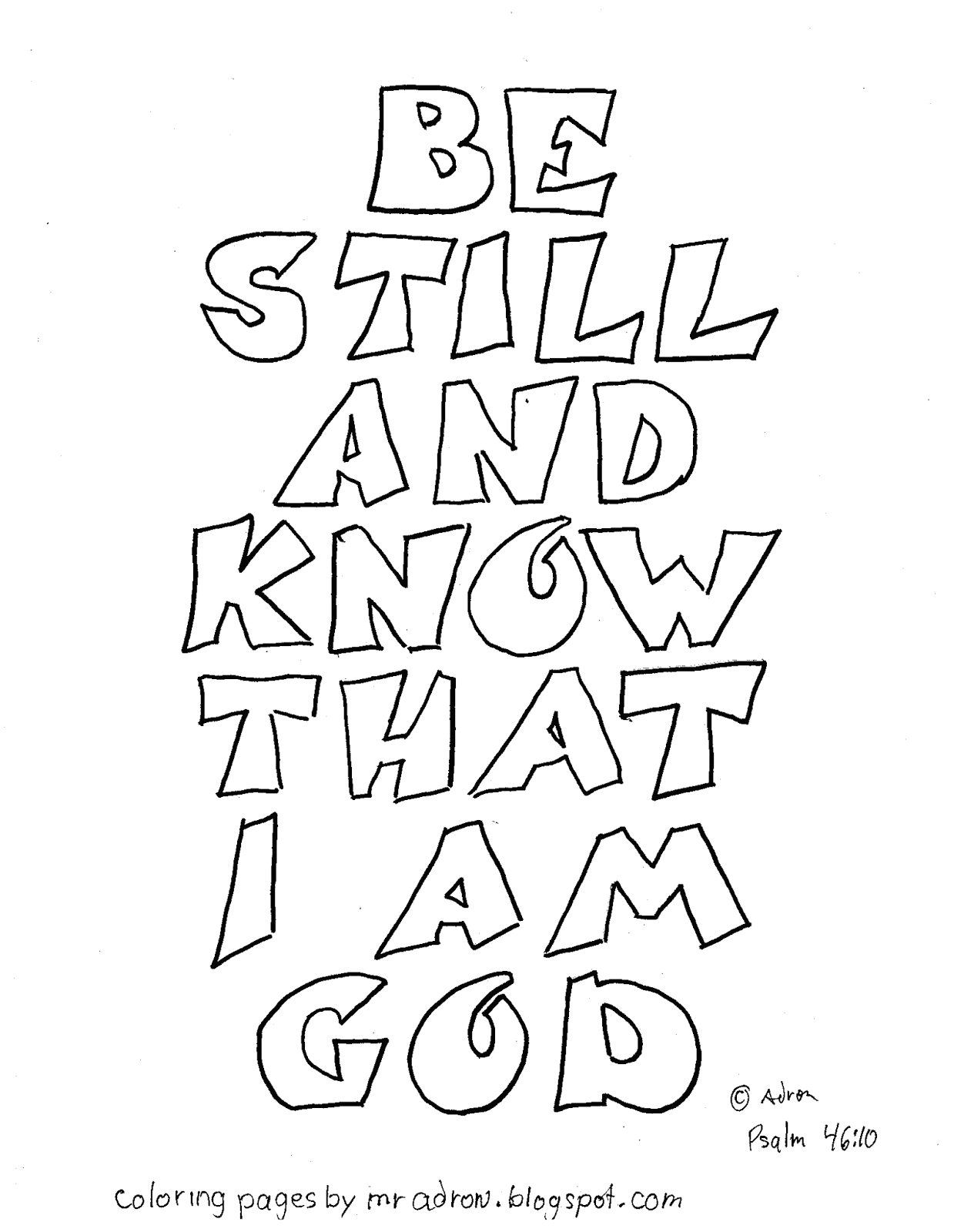 psalm 4610 coloring page