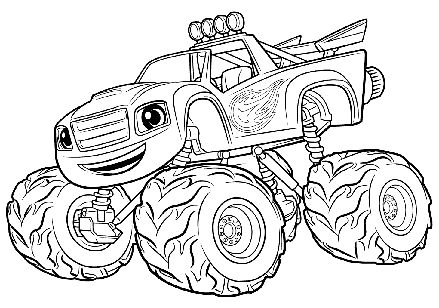 Blaze and the Monster Machine Coloring Pages to Print Blaze and the Monster Machines Coloring Pages Best
