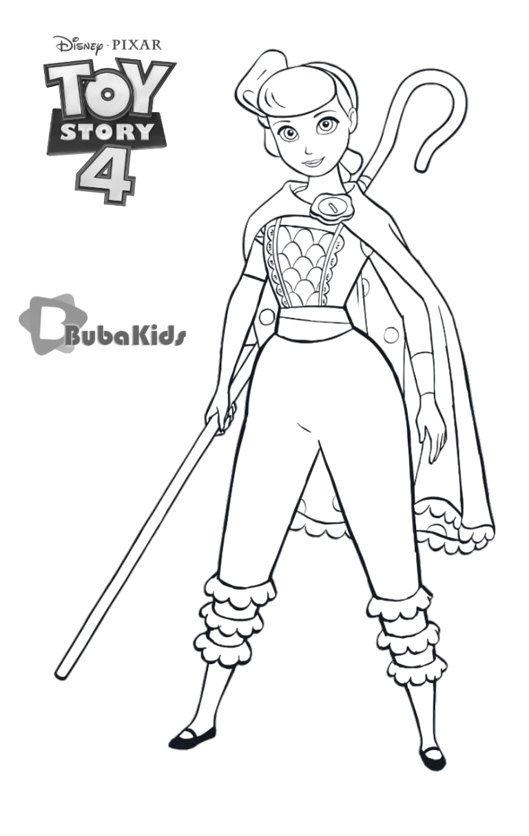 little bo peep toy story 4 character coloring page