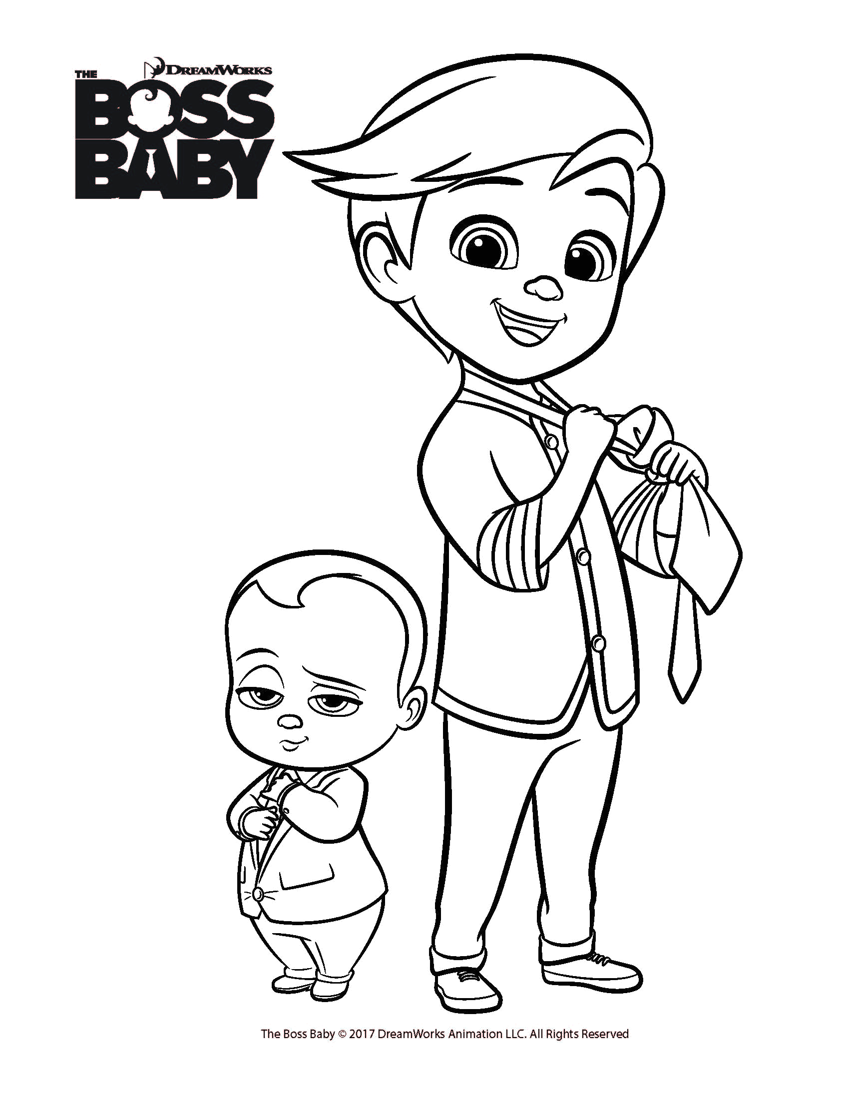 Boss Baby Back In Business Coloring Pages Free Coloring Printables for the Boss Baby From Dreamworks