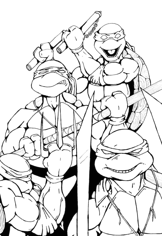Coloring Pages for Boys 10 and Up top 25 Free Printable Ninja Turtles Coloring Pages Line