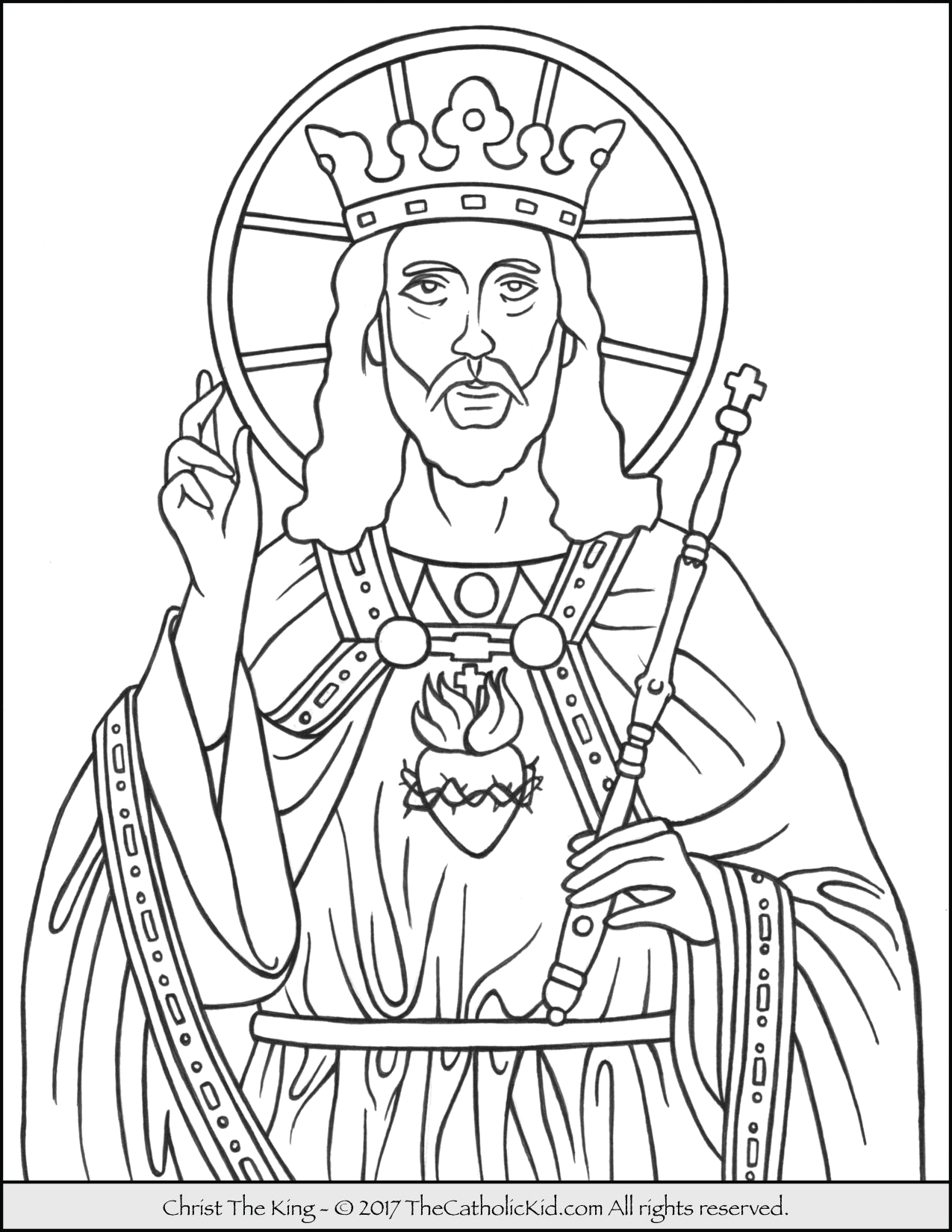 Coloring Pages for Christ the King Sunday Christ the King Coloring Page thecatholickid