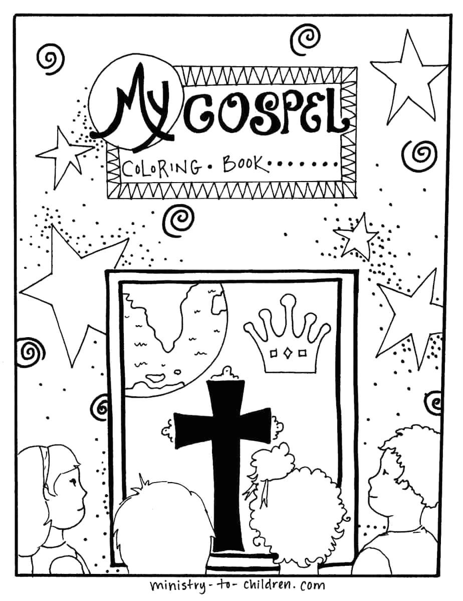 jesus is king coloring book cover page