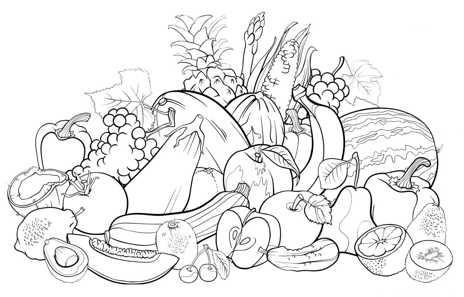 Coloring Pages for Kids Fruits and Vegetables Coloring Pages Fruits and Ve Ables Elegant All Fruits