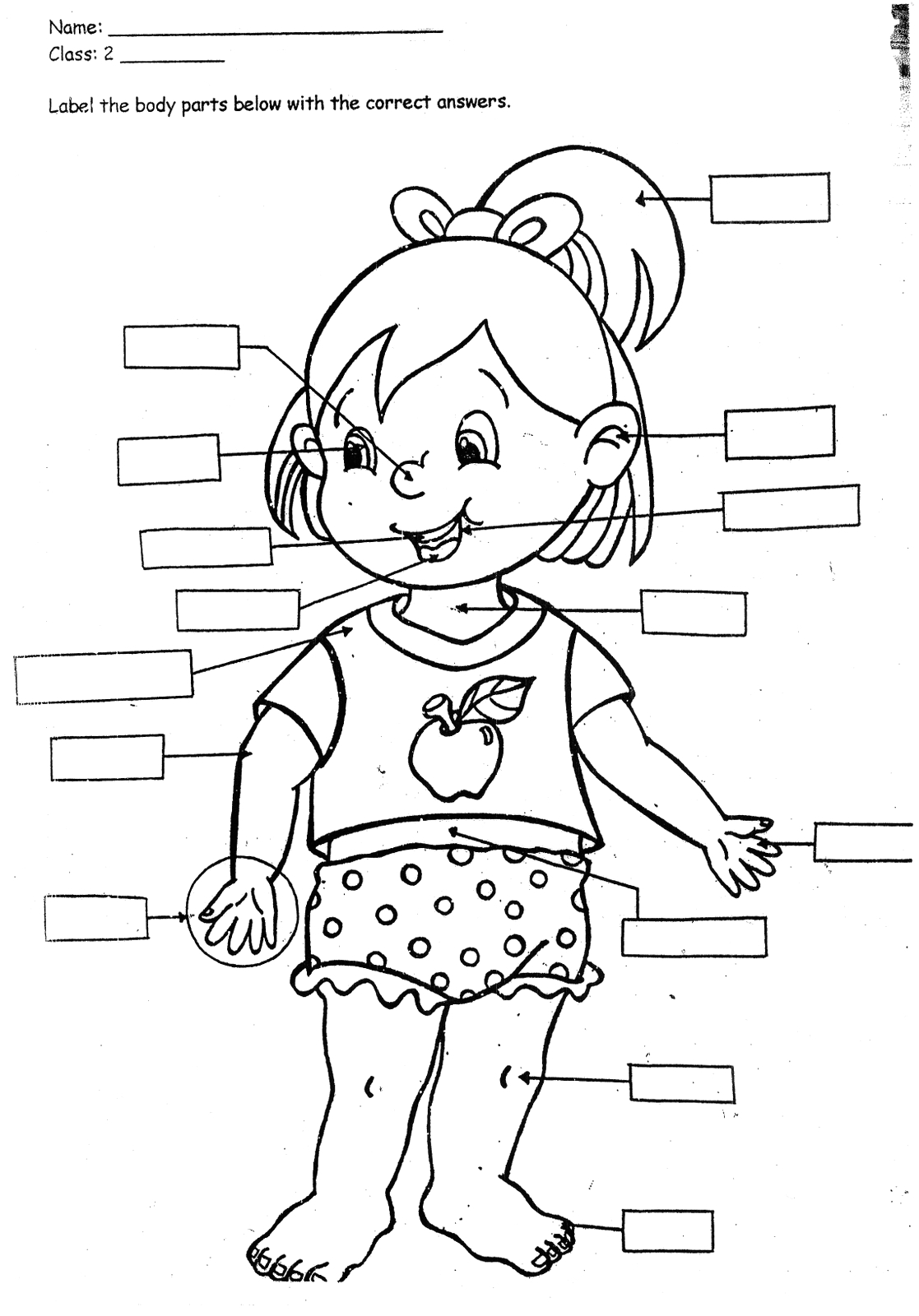 Coloring Pages for Kids Parts Of the Body Time4english Parts Of the Body