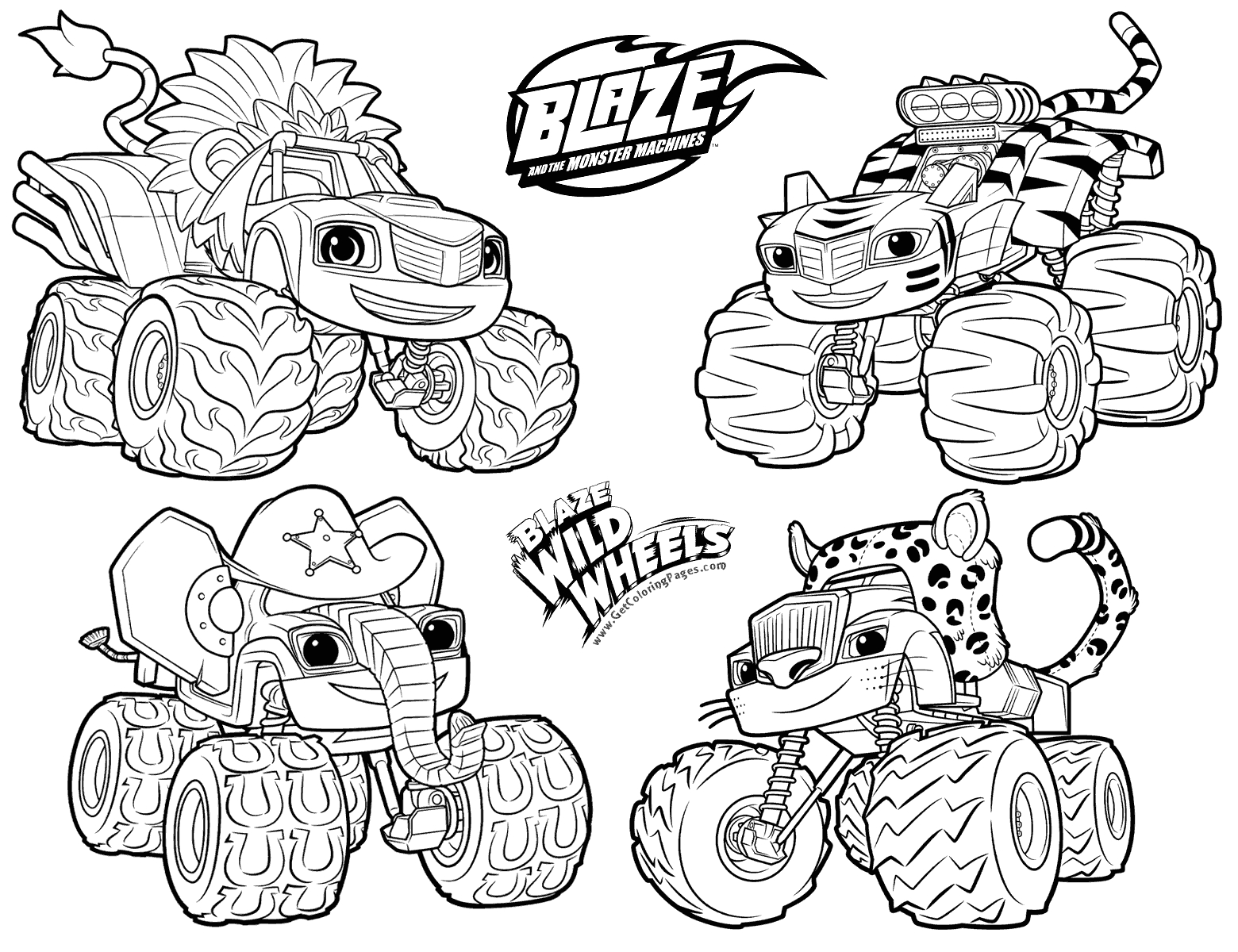 blaze and the monster machines printable coloring pages