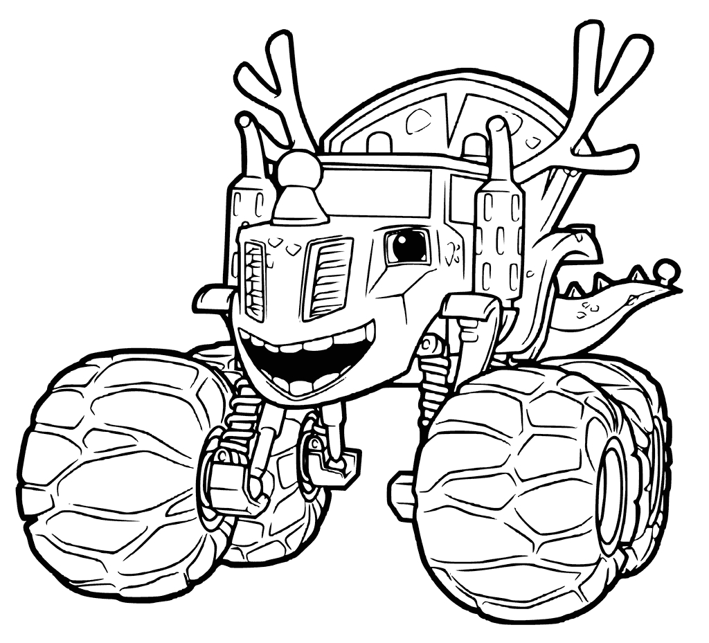 blaze monster machine coloring pages
