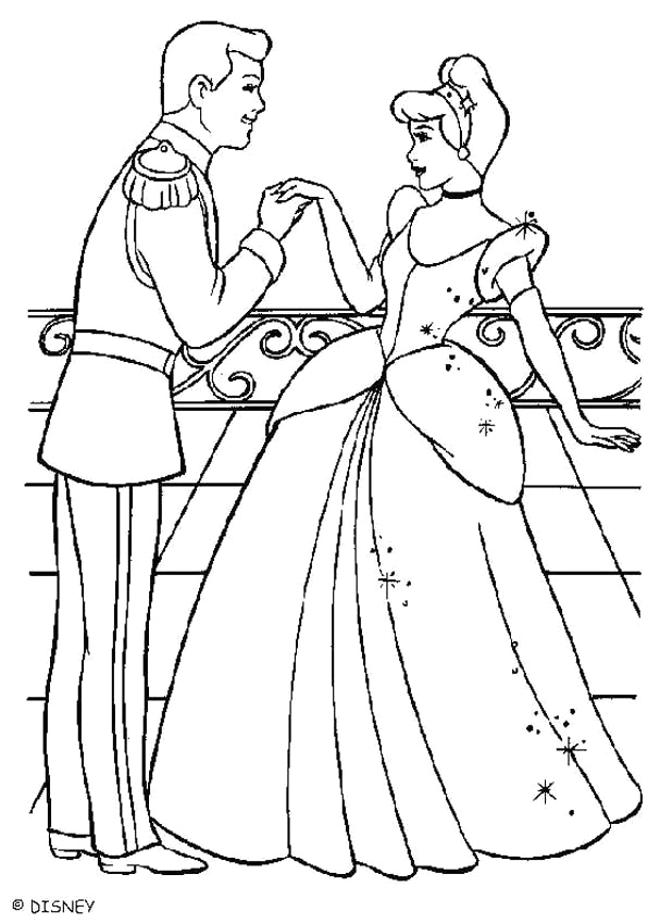 cinderella with the prince charming