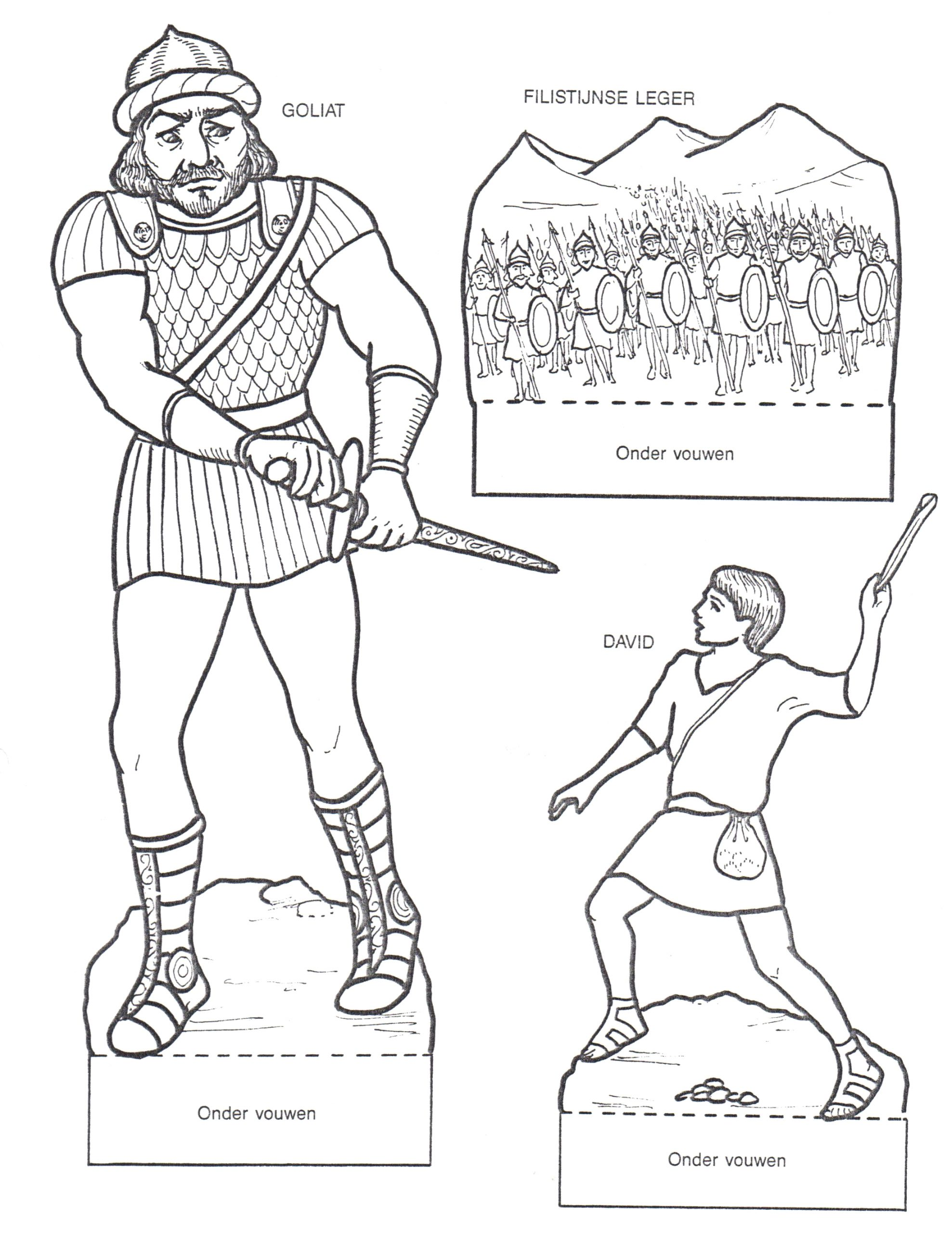 david and goliath coloring pages for