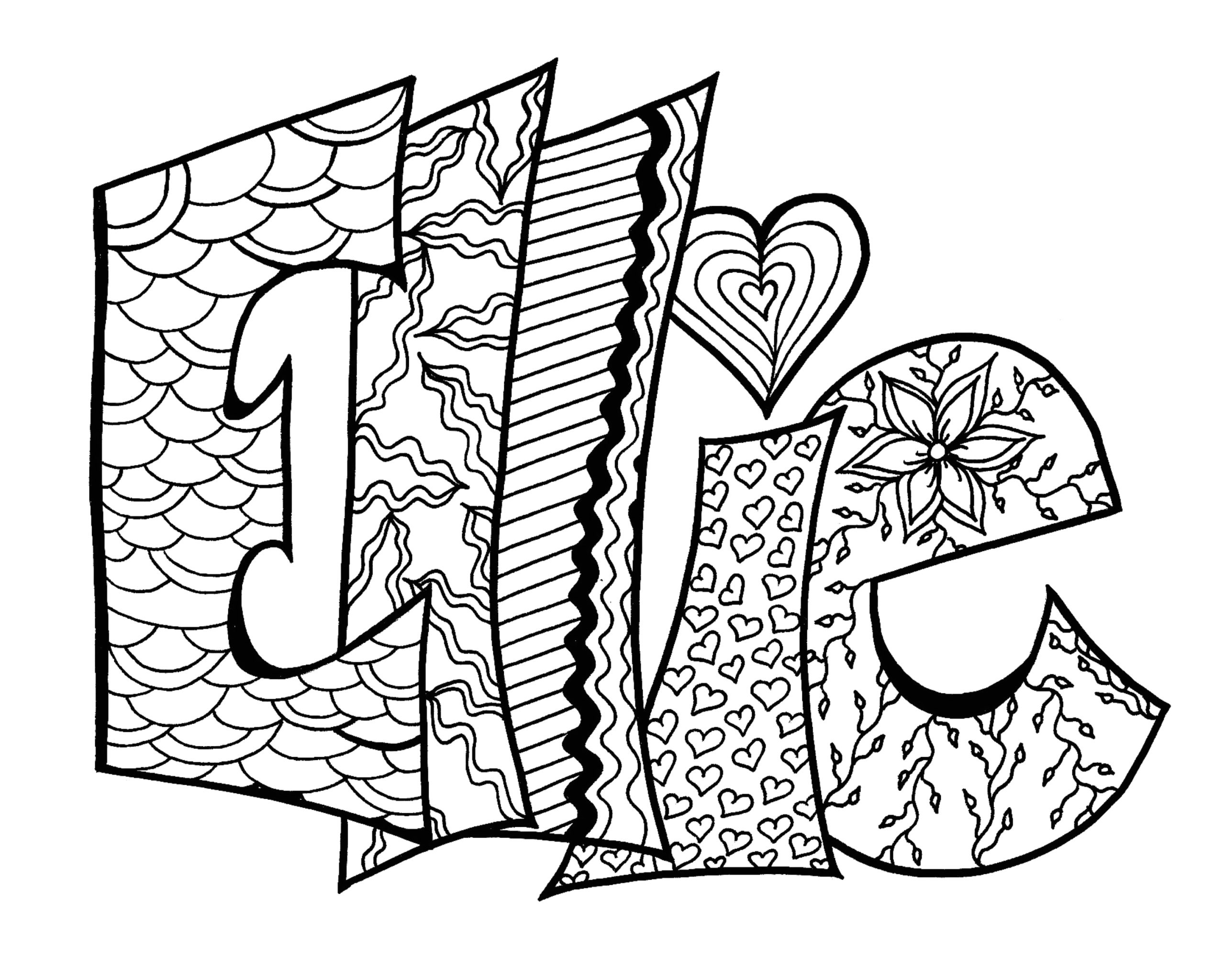 Customized Coloring Pages with Names On It Personalized Name Coloring Pages at Getcolorings