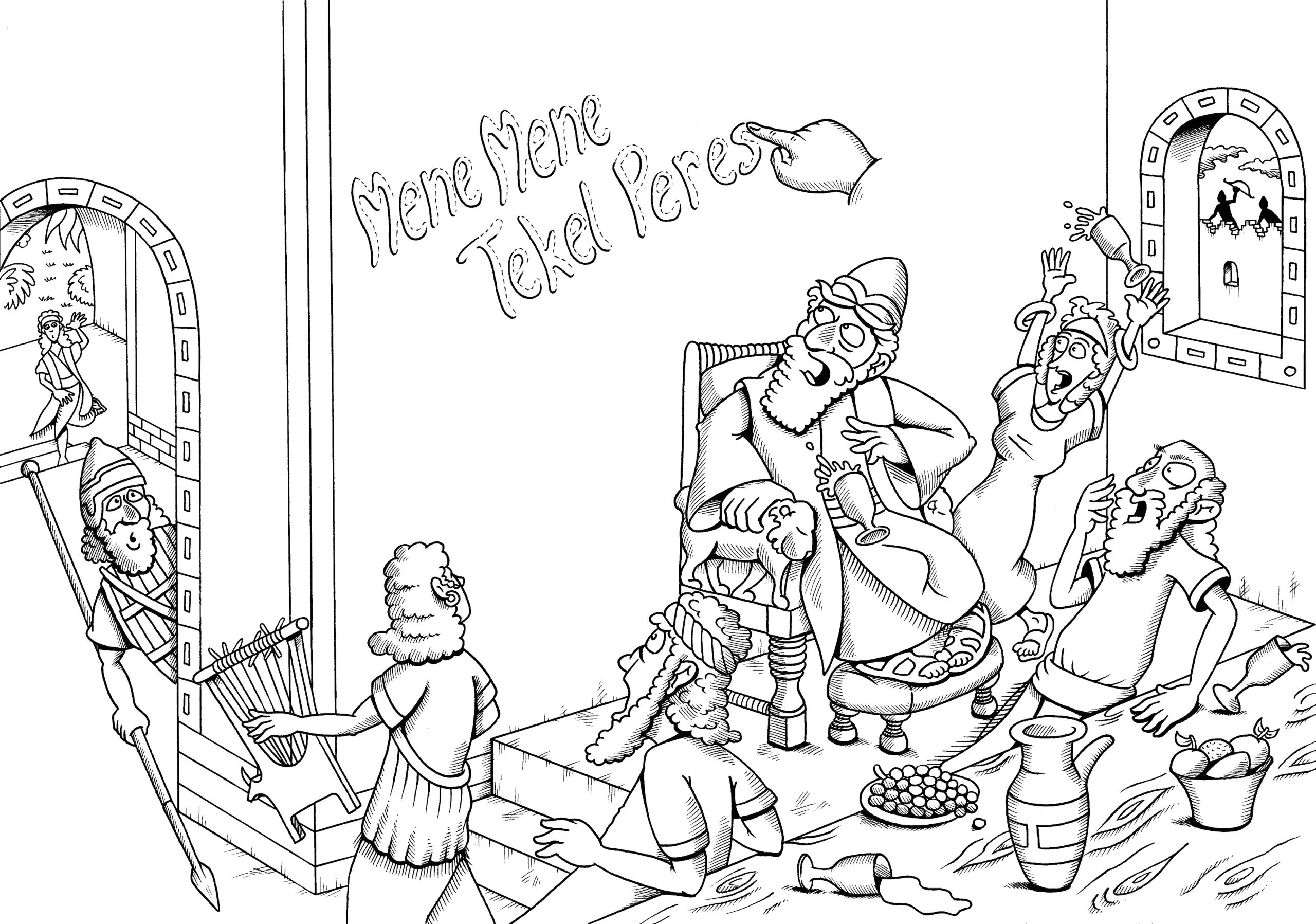 Daniel and the Writing On the Wall Coloring Page Daniel Writing the Wall Coloring Page Coloring Pages
