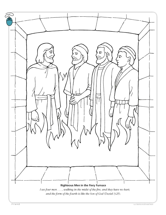 Daniel In the Fiery Furnace Coloring Pages Daniel and the Fiery Furnace Coloring Page