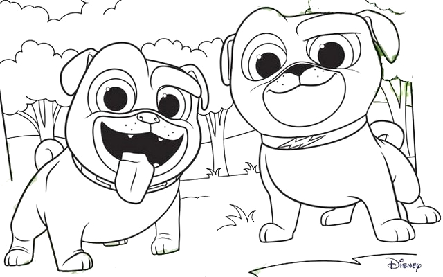 Disney Junior Puppy Dog Pals Coloring Pages Disney Junior Puppy Dog Pals Coloring Page for Kids