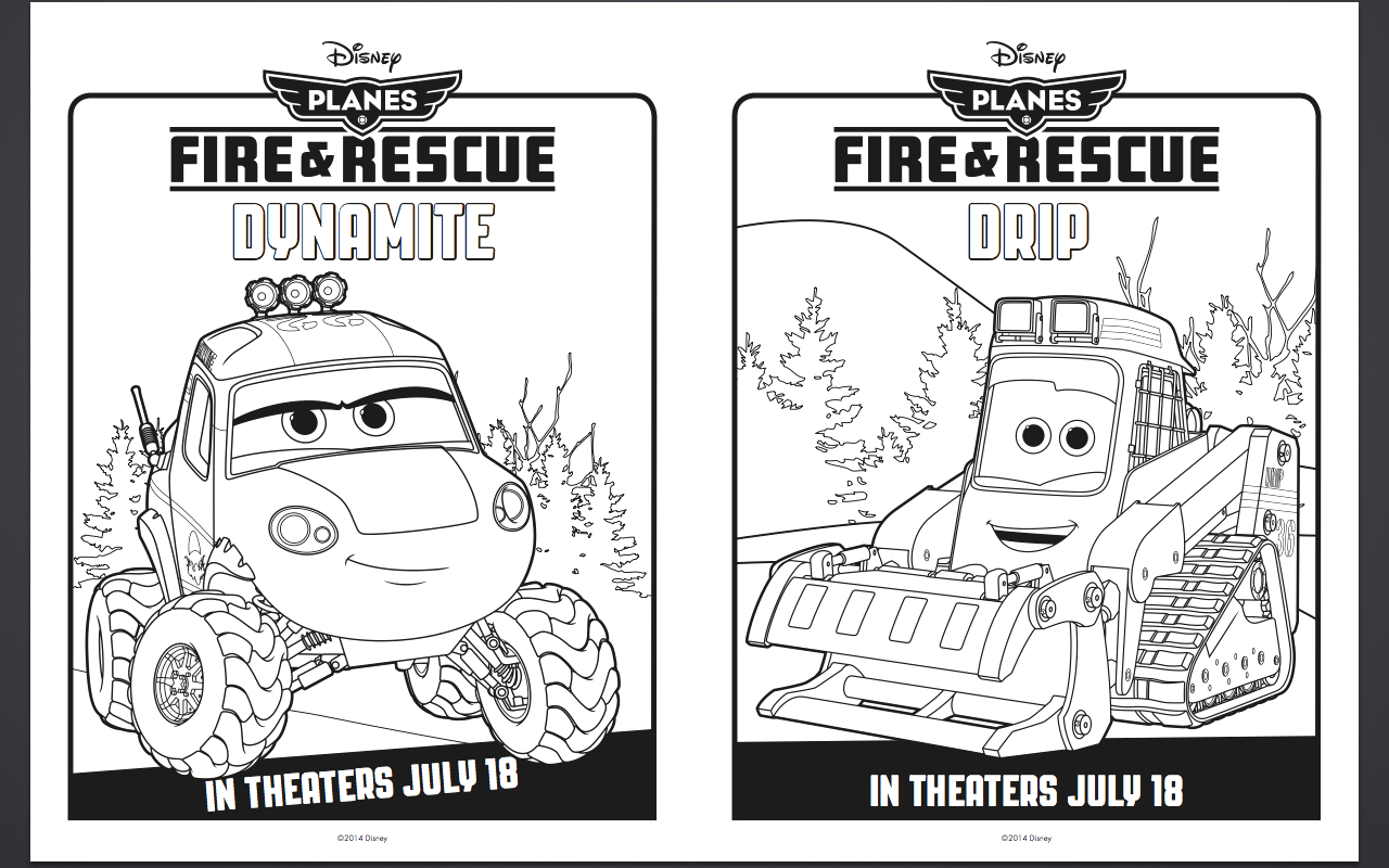 free disney planes fire and rescue coloring pages and activity sheets