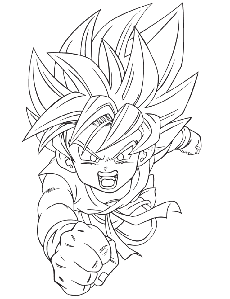 free dragon ball z coloring pages