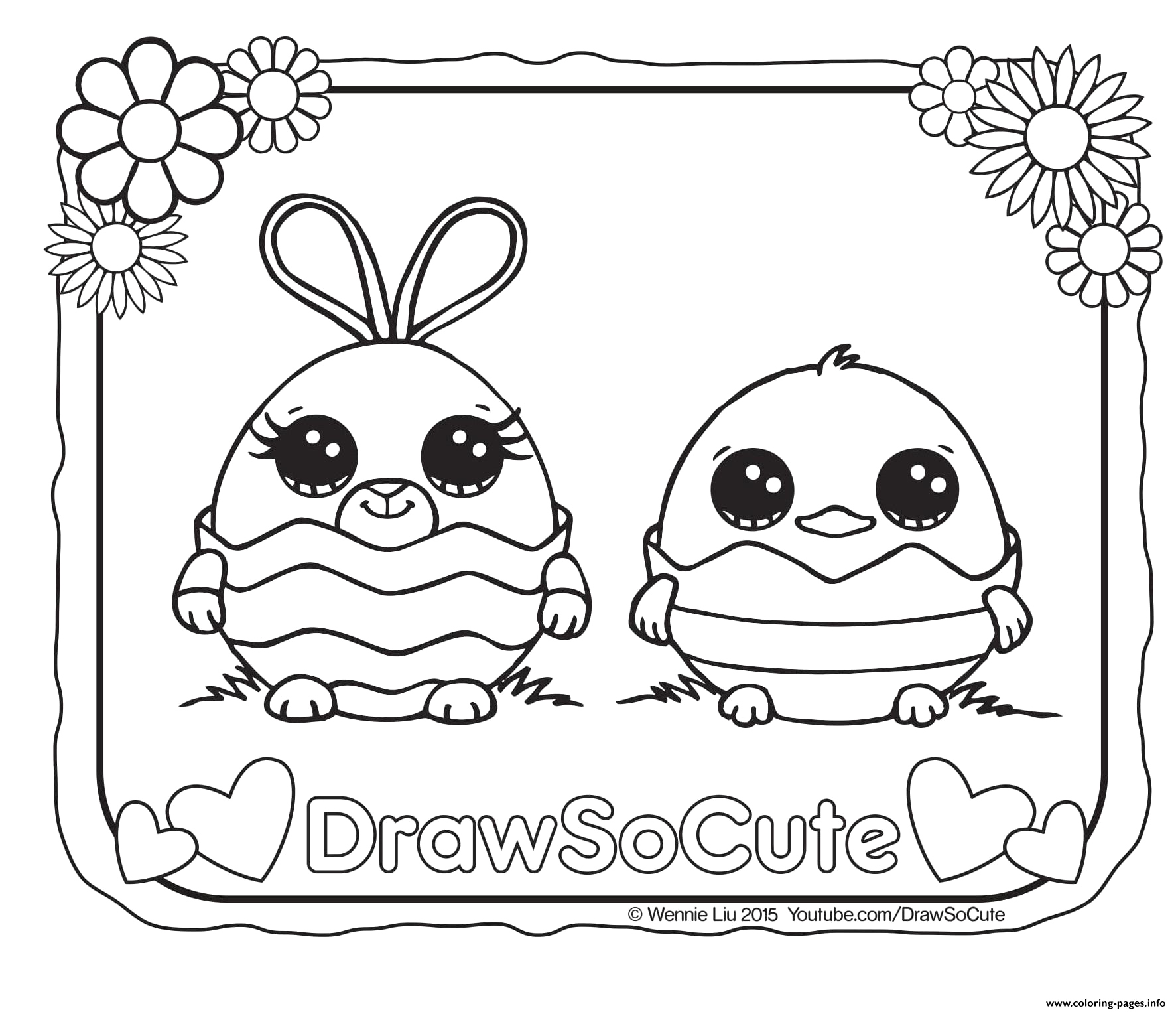 easter draw so cute printable coloring pages book