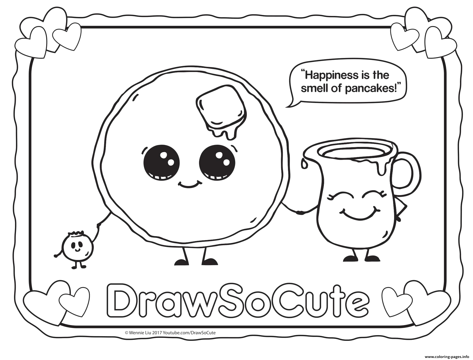 pancake draw so cute printable coloring pages book