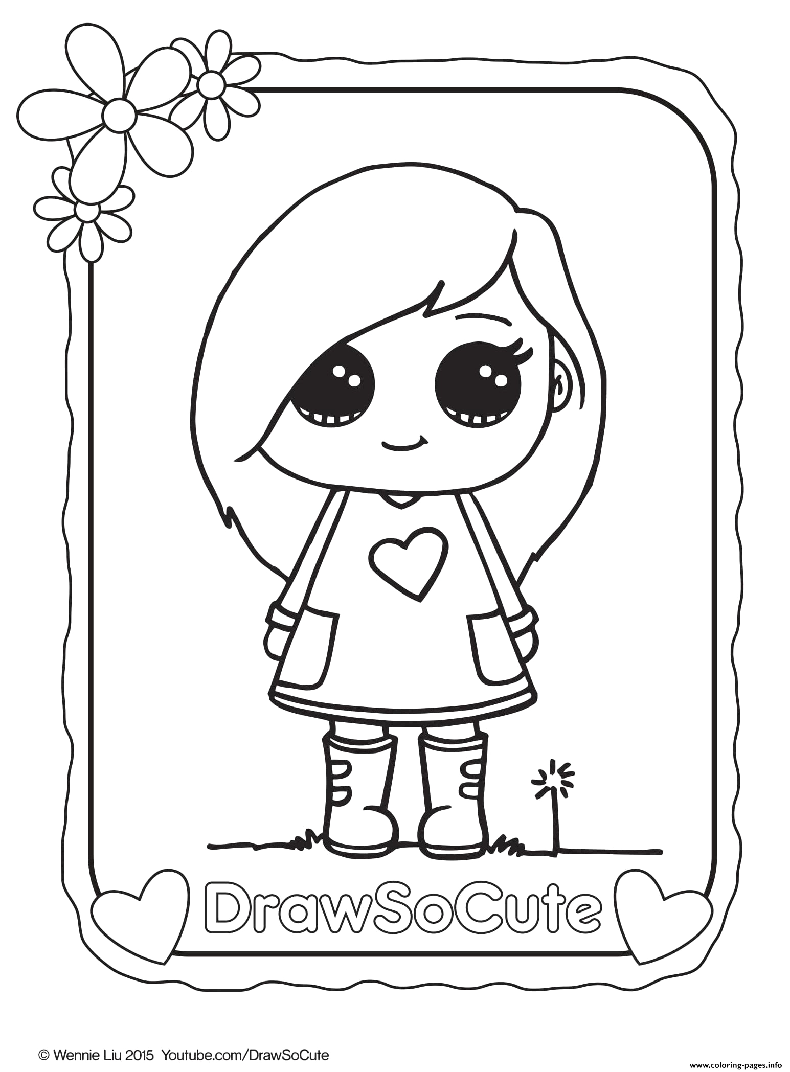 sophie draw so cute printable coloring pages book