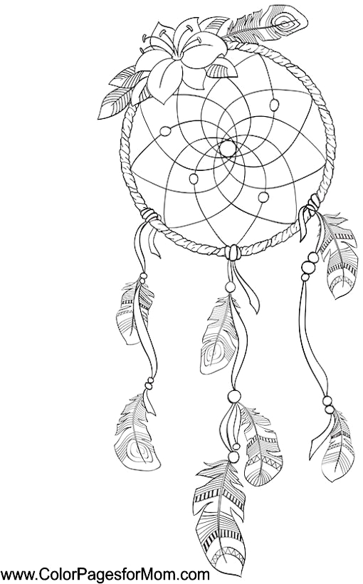 Dream Catcher Native American Coloring Pages for Adults southwestern & Native American Coloring Page 29