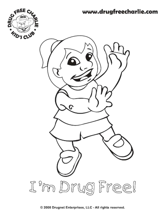 free printable coloring pages for red ribbon week