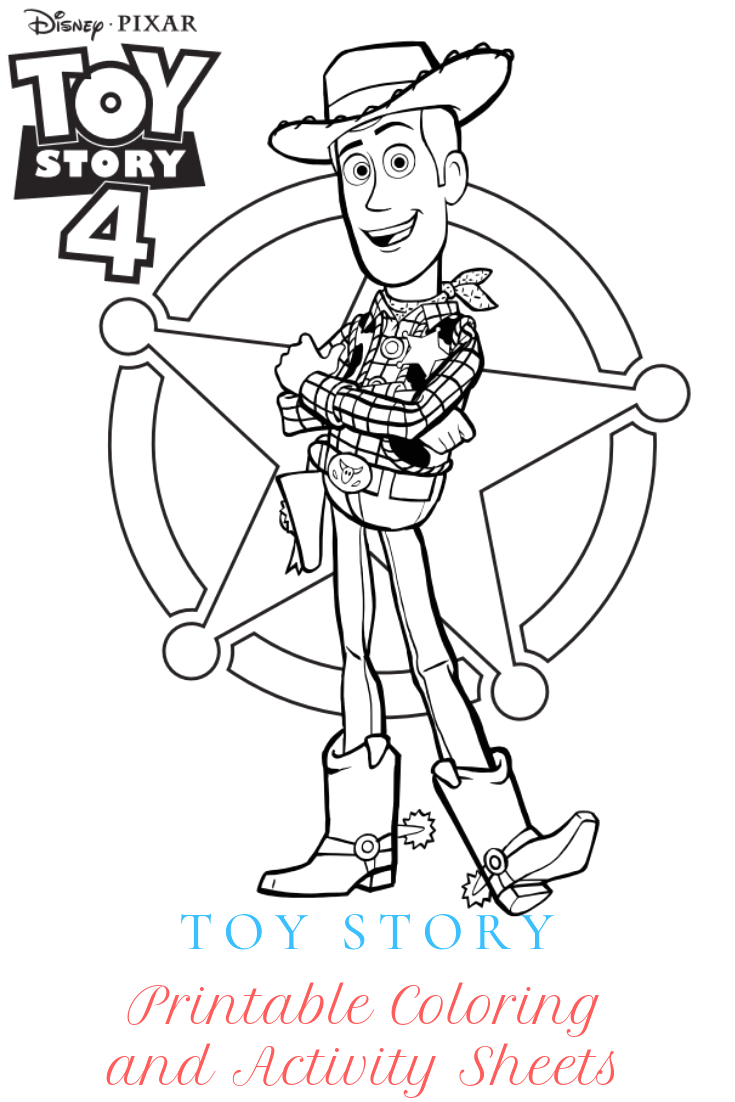 disney pixars toy story 4 printable coloring and activity sheets