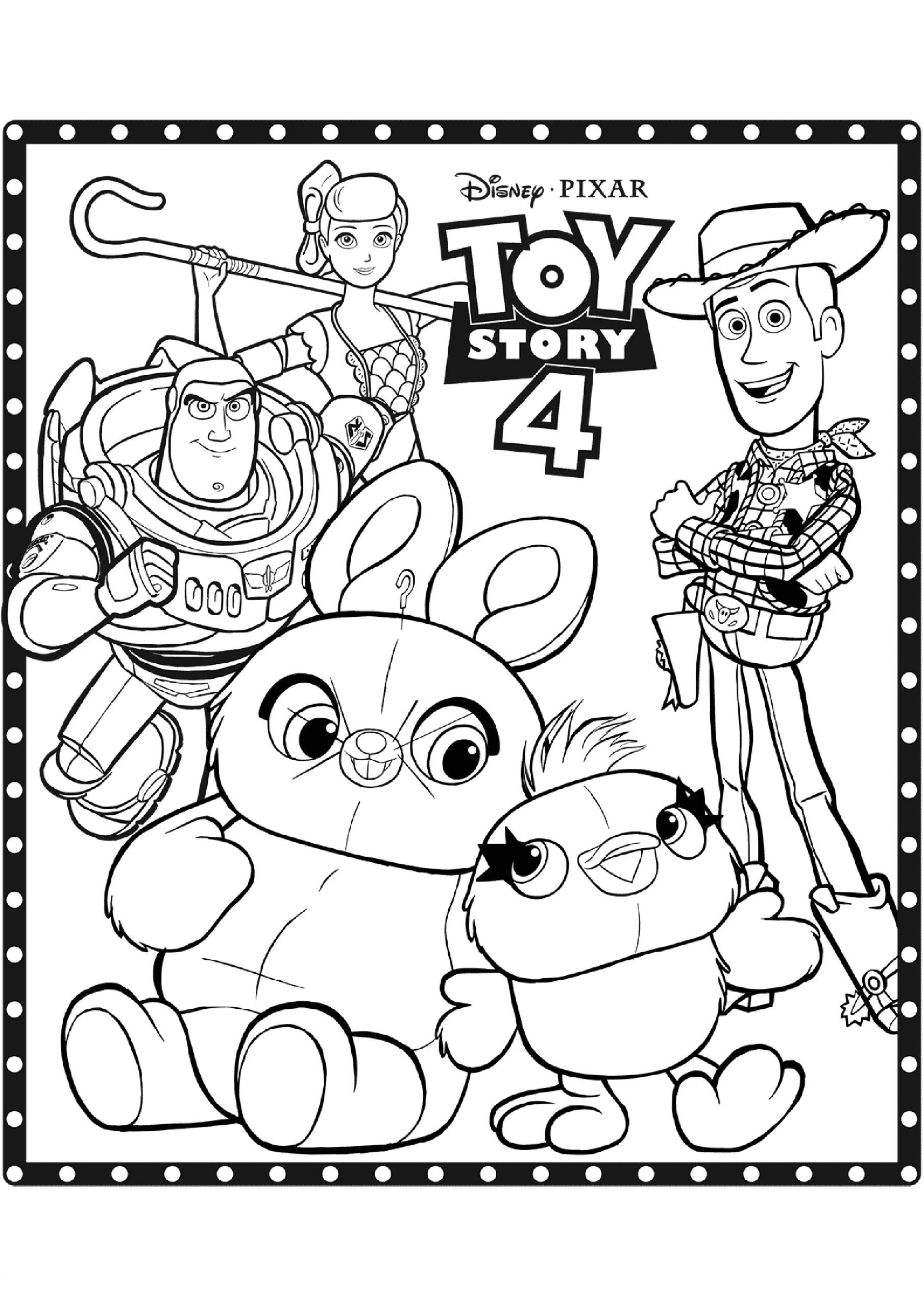 image=toy story 4 coloring pages for children toy story 4 3