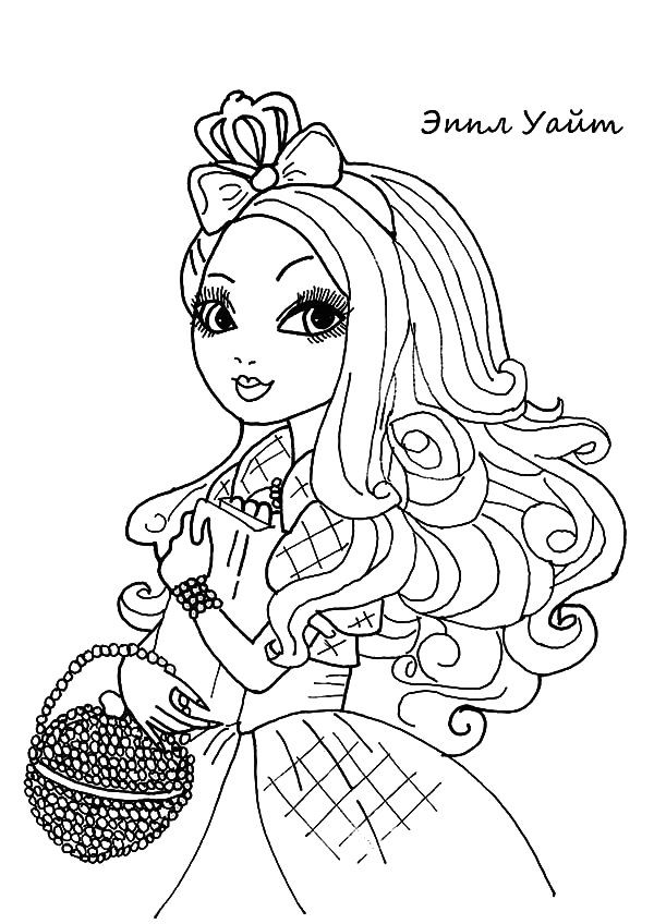 apple white ever after high coloring pages