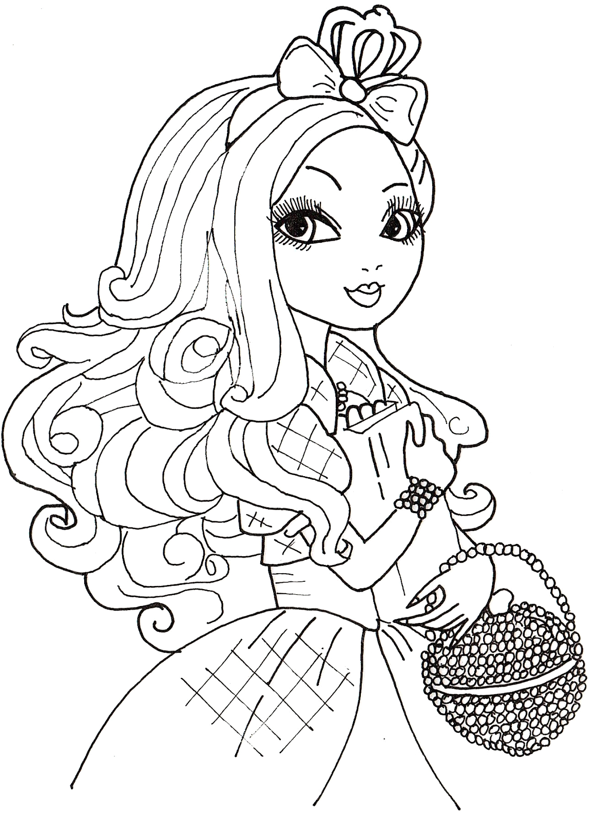 Ever after High Apple White Coloring Pages Free Printable Ever after High Coloring Pages Apple White