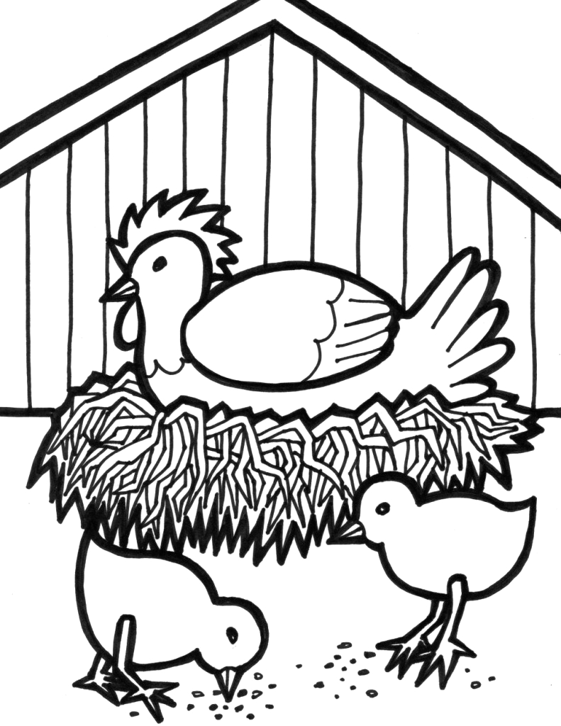 Farm Animals Coloring Pages for Kids Printable Free Printable Farm Animal Coloring Pages for Kids
