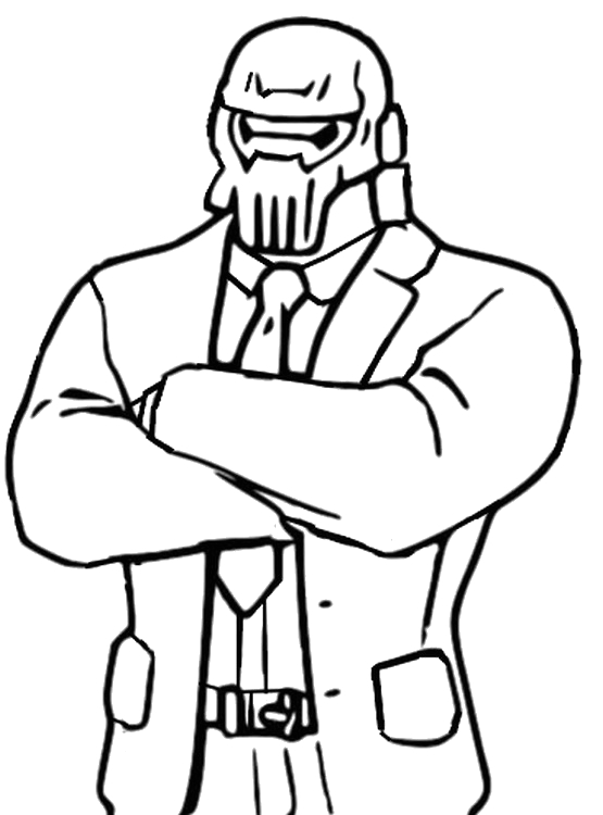 Fortnite Coloring Pages Chapter 2 Season 2 Coloring Page fortnite Chapter 2 Season 2 Brutus Ghost 4
