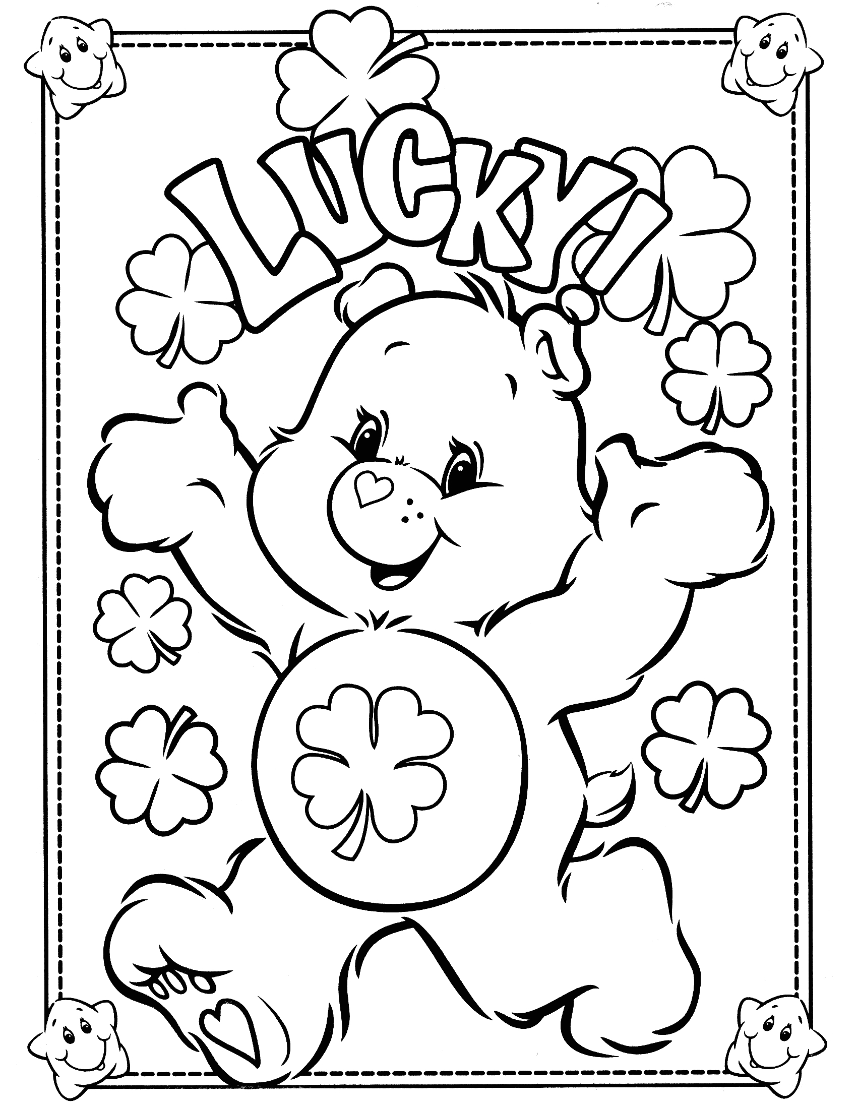 Free Care Bear Coloring Pages to Print Free Printable Care Bear Coloring Pages for Kids