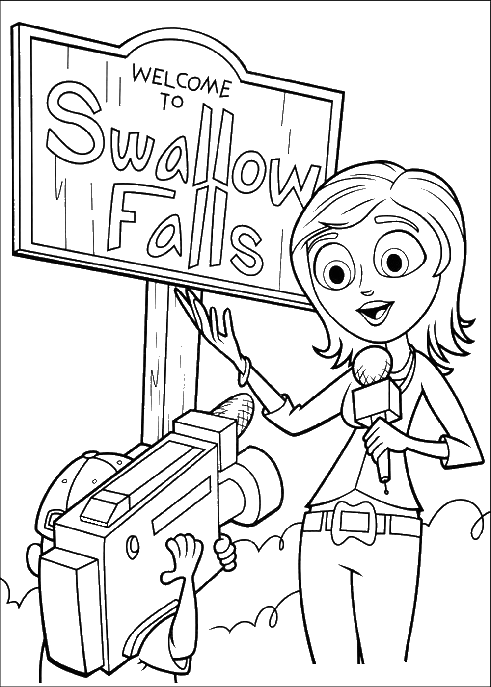 Free Cloudy with A Chance Of Meatballs Coloring Pages Cloudy with A Chance Of Meatballs Coloring Pages