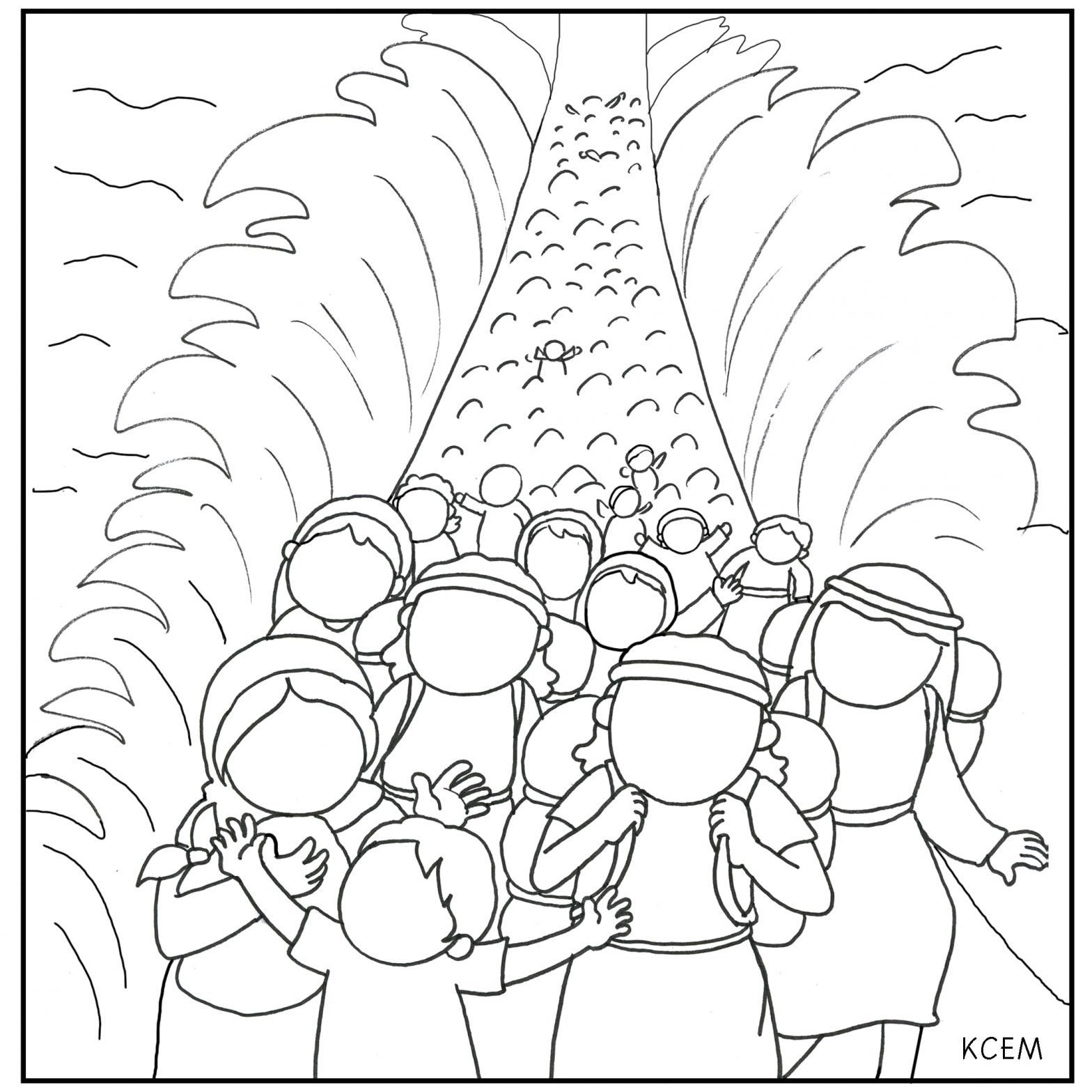 Free Coloring Page Moses Parting Red Sea Moses Parting the Red Sea Coloring Page Coloring Home