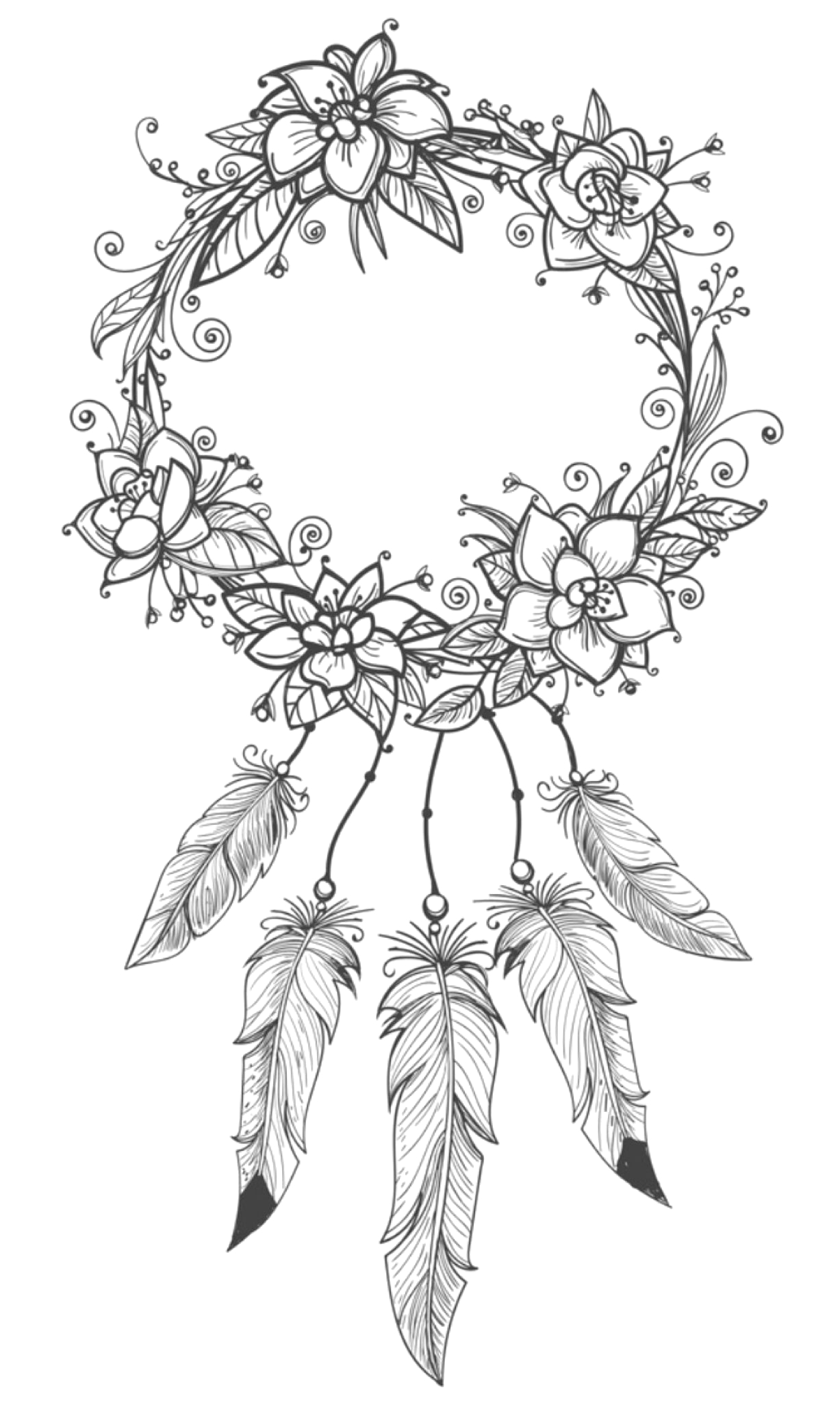 Free Dream Catcher Coloring Pages for Adults Dreamcatcher Coloring Page