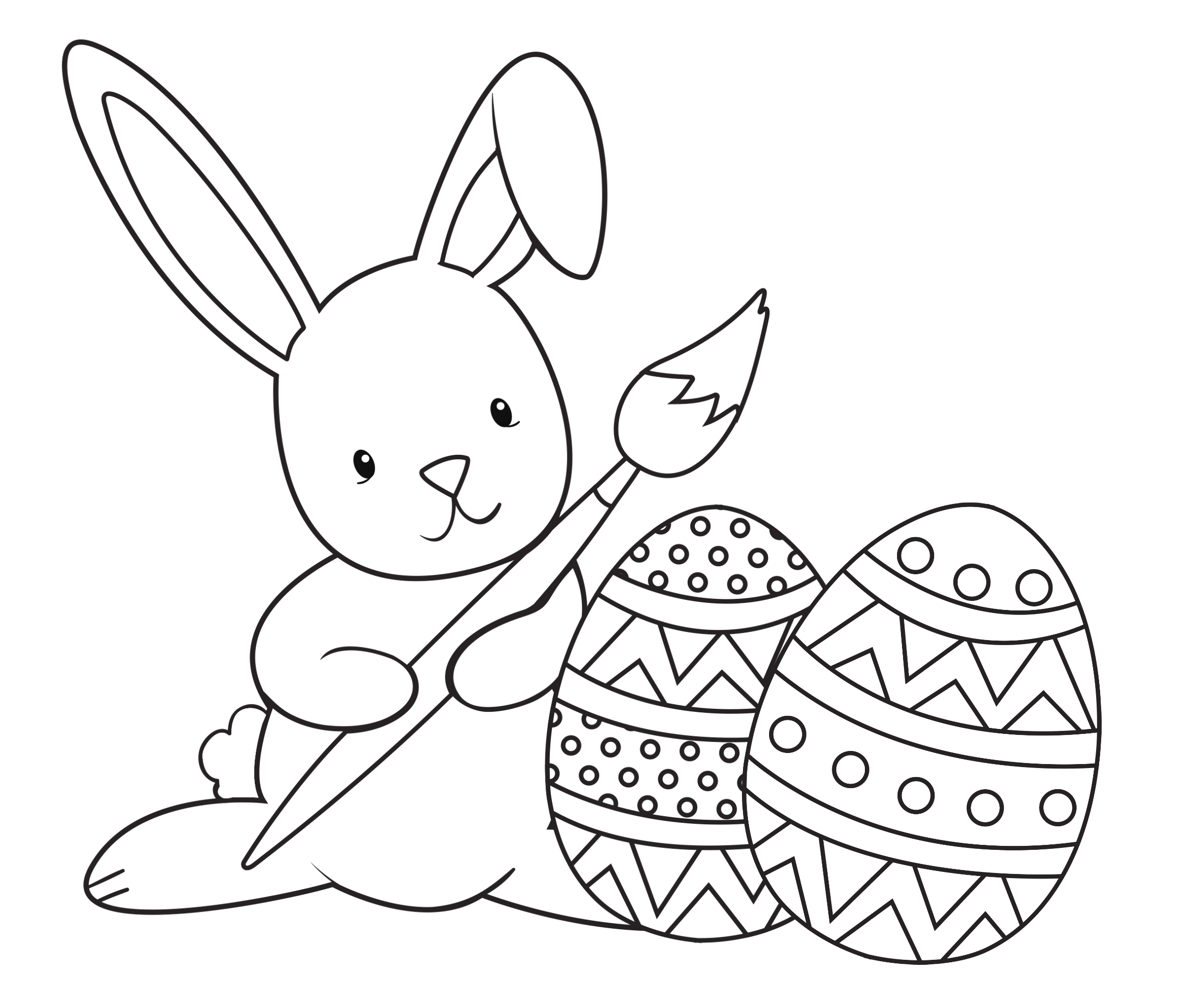 Free Easter Bunny Coloring Pages to Print Easter Bunny Coloring Pages Kidsuki