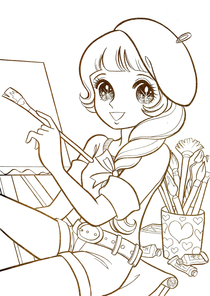 Free Printable Anime Coloring Pages for Adults Coloring Pages for Adults Anime at Getcolorings