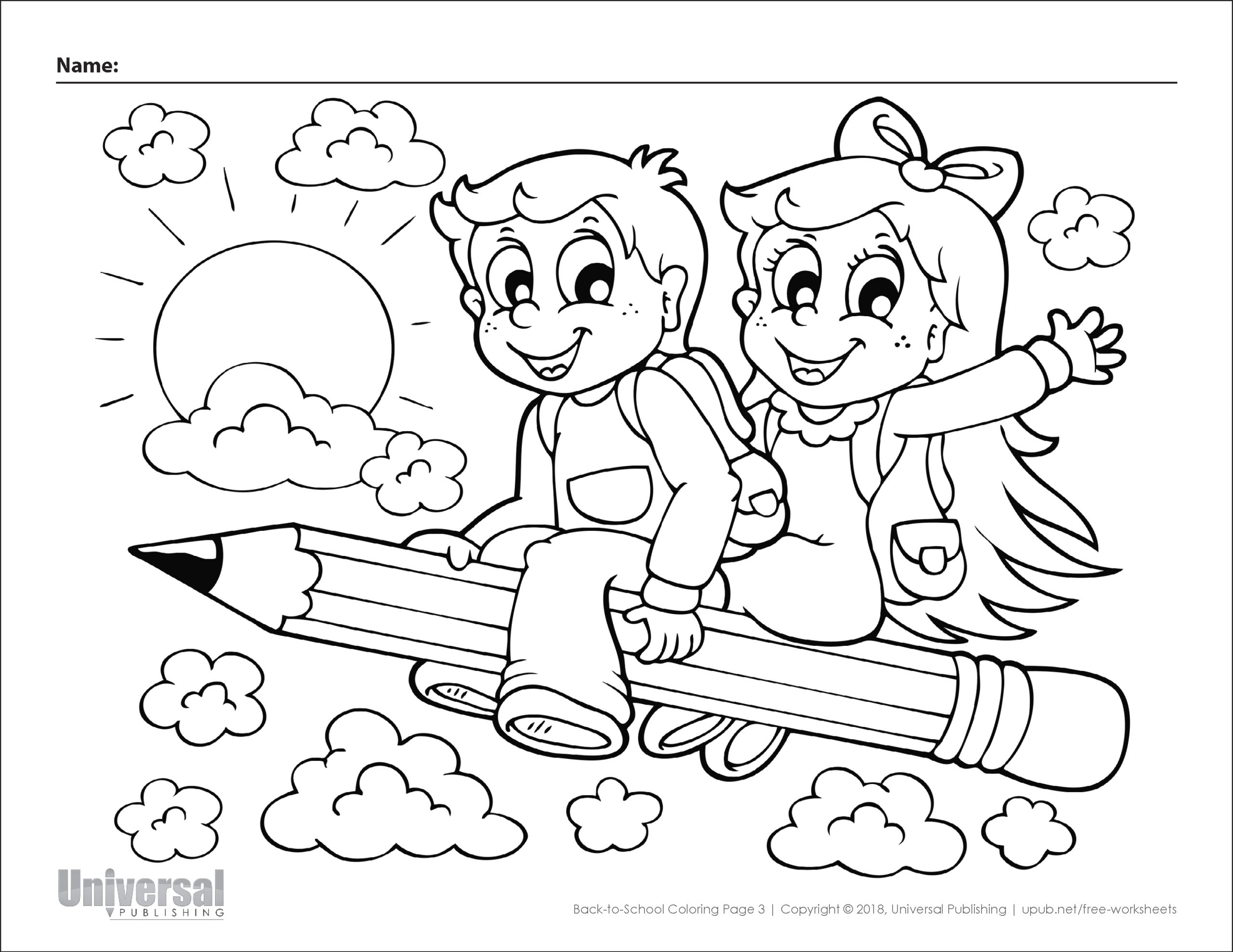 Free Printable Back to School Coloring Pages for Preschoolers Back to School Coloring Pages