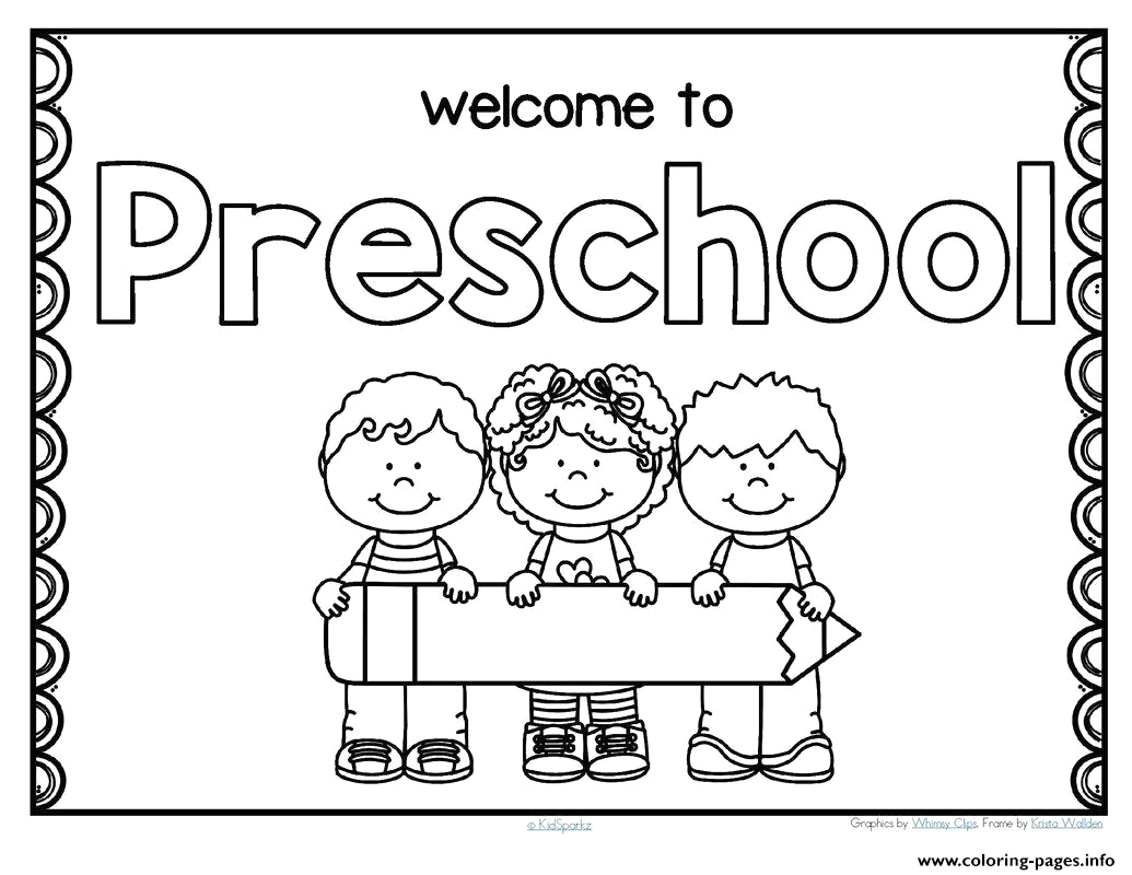 back to school preschool printable coloring pages book