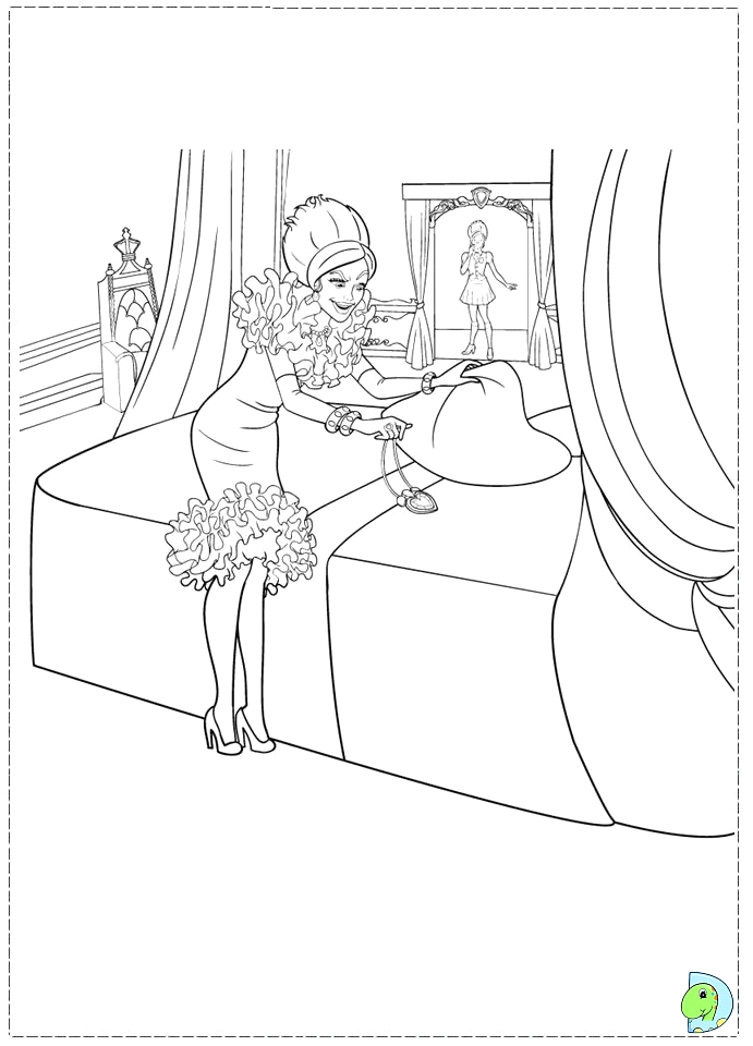barbie charm school coloring pages sketch templates