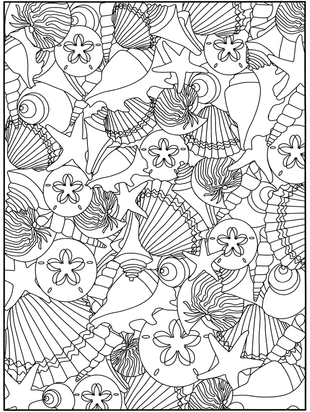 beach coloring pages for adults