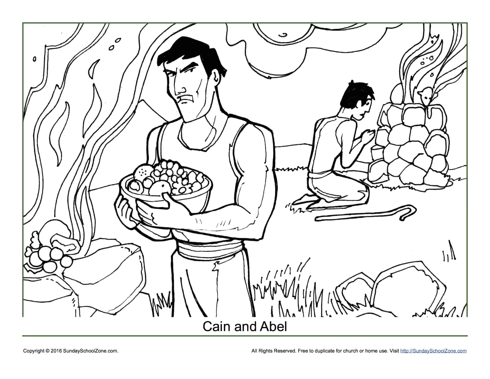 Free Printable Cain and Abel Coloring Pages Cain and Abel Coloring Page Children S Bible Activities